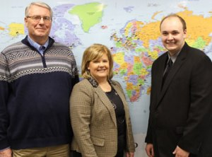 Steve Hullinger, CFO of Believers Christian Fellowship Cheryl Verhoff, VP, Business Banking Michael Dulle, Elida Branch Manager